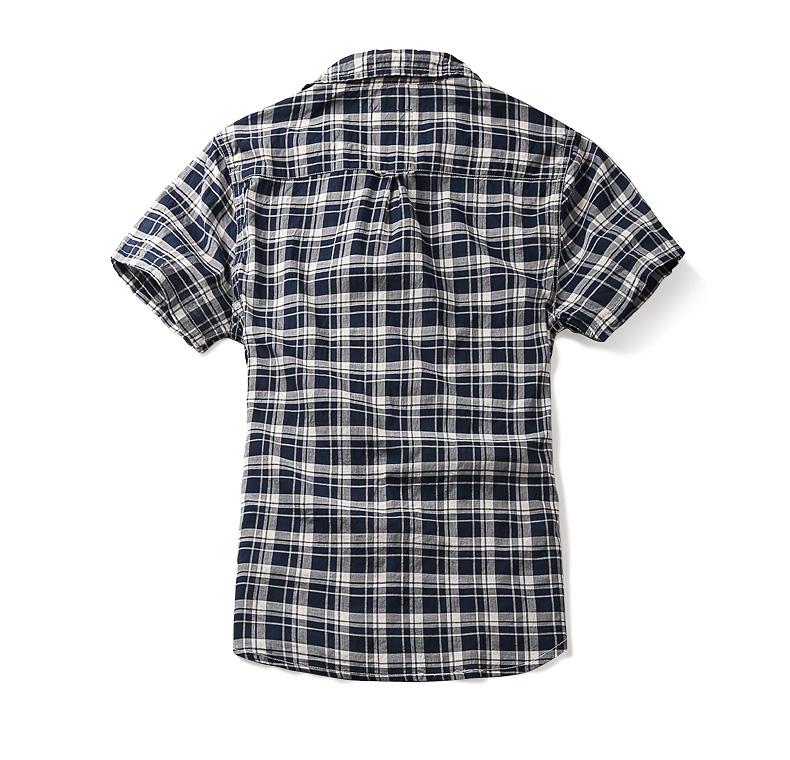 Match maggie short-sleeved shirt men's half-sleeve summer casual square collar shirt slim G2213 (Lang S) 39 Online shopping Bangladesh
