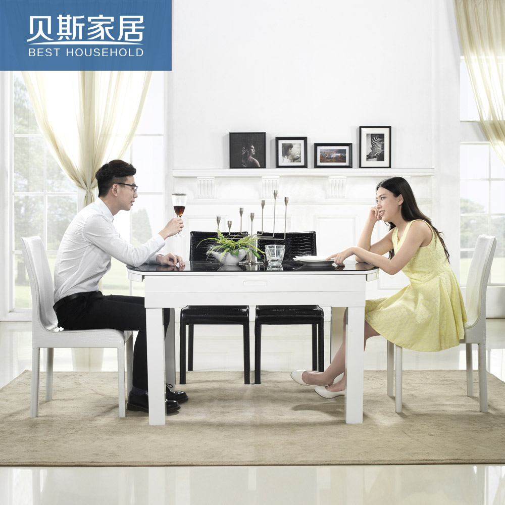 Usd 490 71 Living Room Modern Simple Tempered Glass Dining Table Small Folding Round Dining Table Chair Combination Table Wholesale From China Online Shopping Buy Asian Products Online From The Best