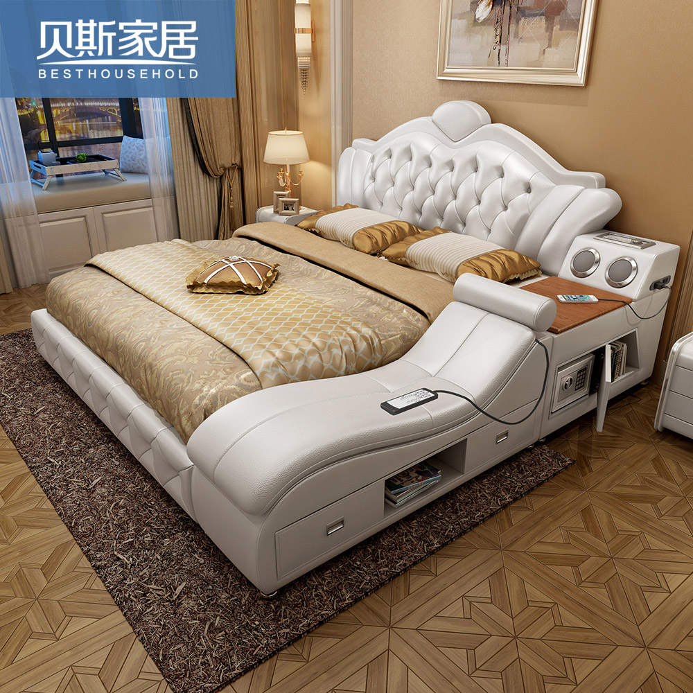 Usd Tatami Bed In Master Bedroom Leather Bed Genuine Leather Bed Soft Bed Marriage Bed