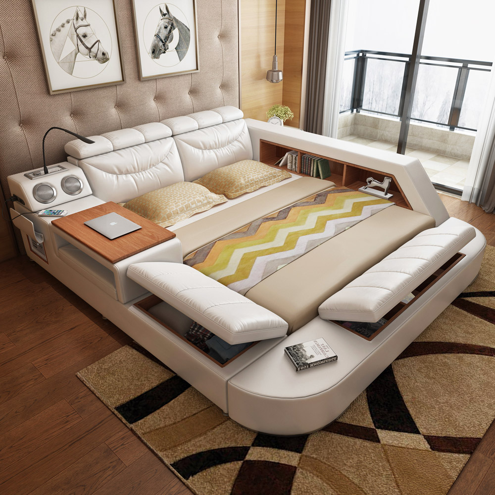 Usd acoustic smart bed master bedroom tatami bed for 1 bed