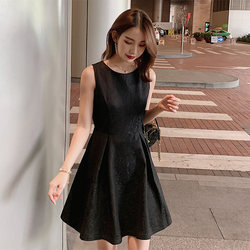 Spring 2020 take lace a word in the new female temperament Korean version bottoming skirt sleeveless vest dress autumn and winter