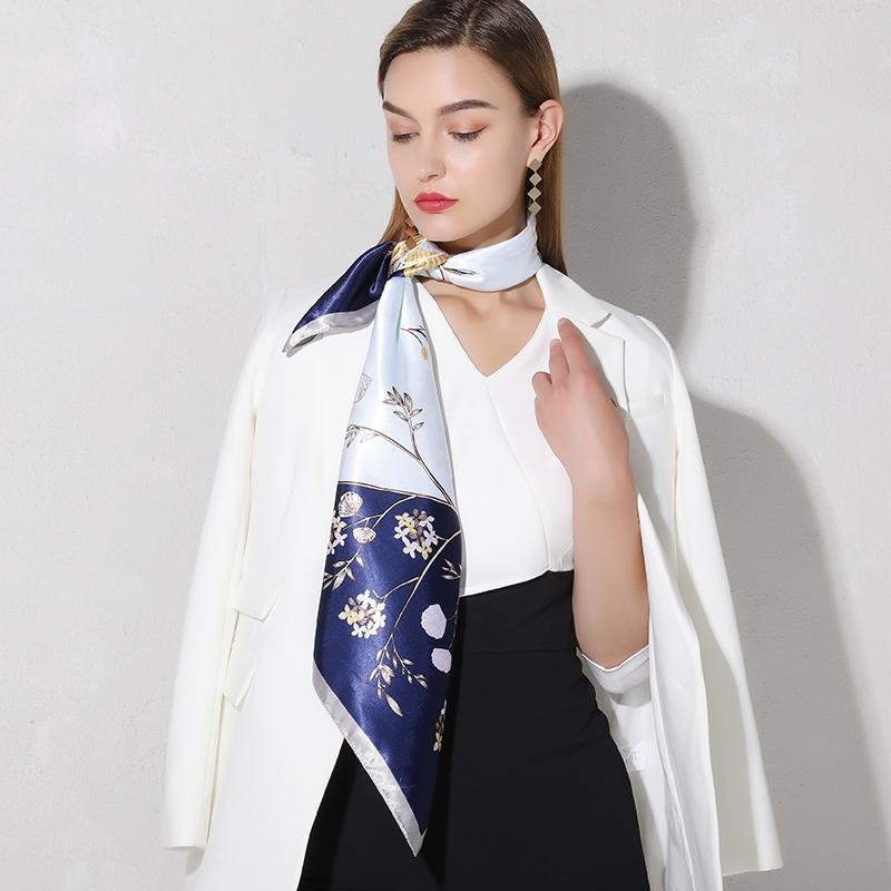上海故事丝巾女夏季四方大方巾90×90正方形中年妈妈款礼盒装围巾