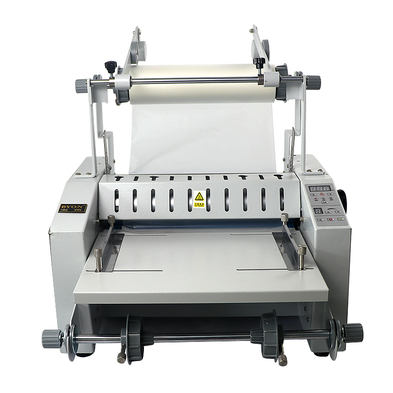 V370FS/V370F anti-crimp thermal laminating machine automatic rewinding and  retracting machine with trimming menu document color page laminating