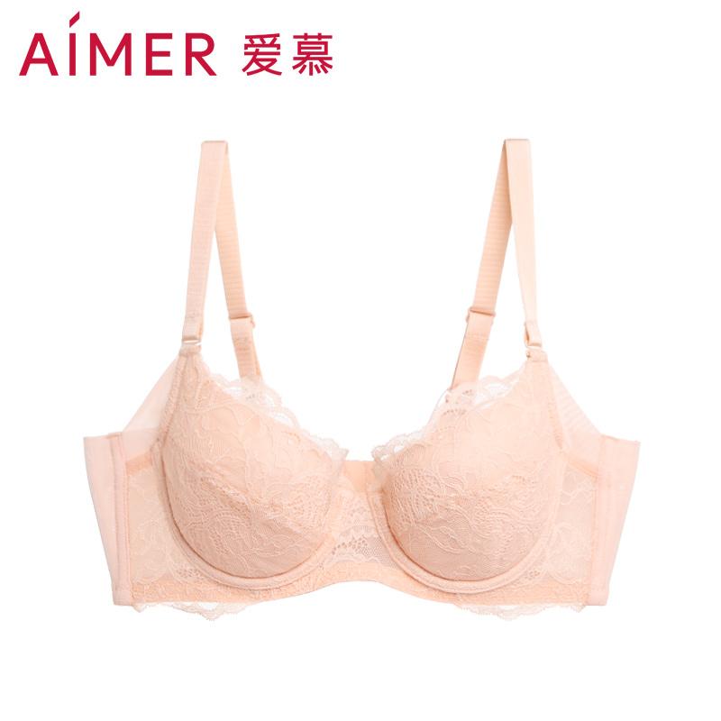 Aimer 爱慕 安全系列 4/4蕾丝大罩杯文胸 天猫优惠券折后¥69包邮(¥189-120)2色可选
