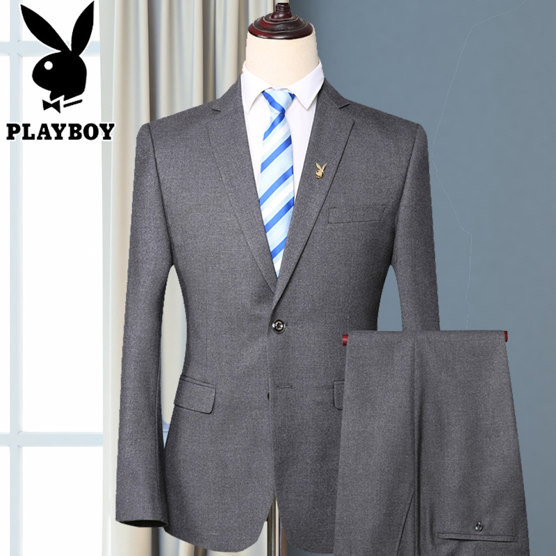 Playboy suit men's youth business casual trim simple summer thin professional suit is dressed in a single west