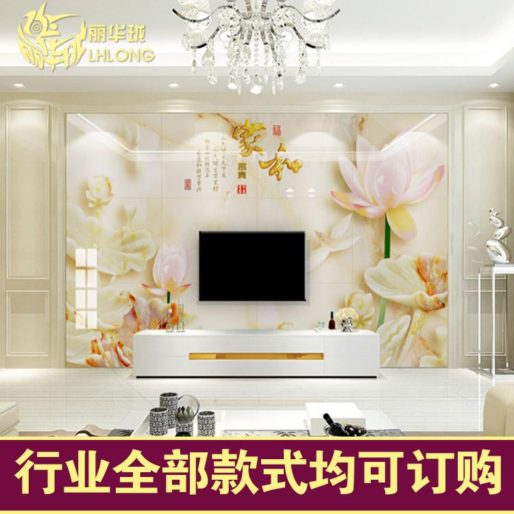 客厅影视立体墙背景新中式微晶3D电视现代瓷砖罗马柱浮雕墙砖石
