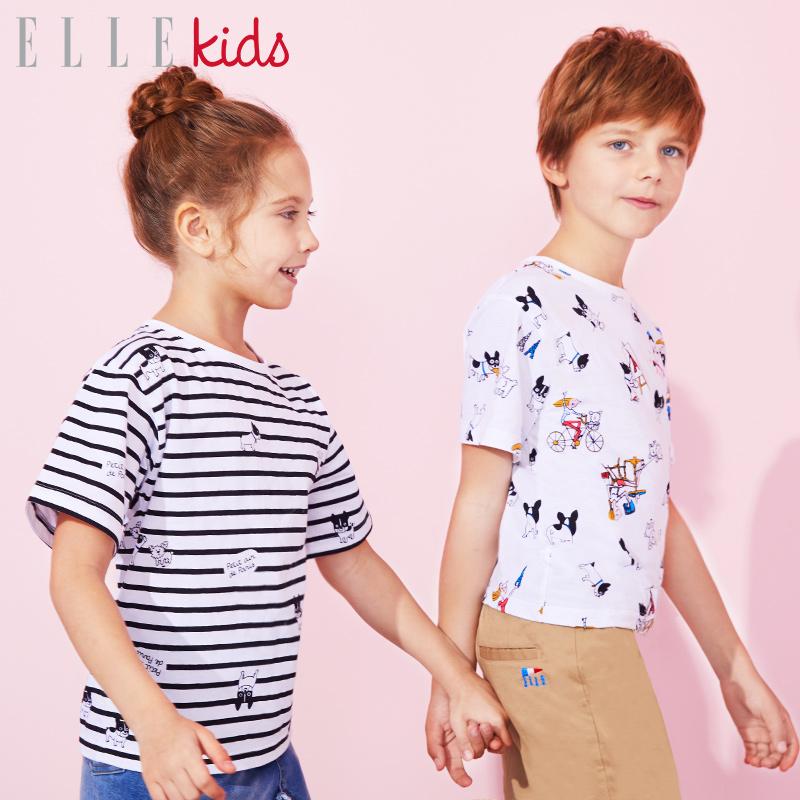 ELLEKIDS & SOLEDAD联名款 儿童短袖T恤 聚划算天猫优惠券折后¥39包邮(¥89-50)男女童多色可选