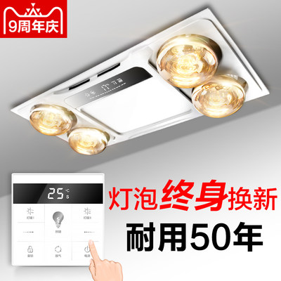 Lei Shi lighting lamp warm Yuba exhaust fan integrated ceiling three-in-one bathroom heating bulb 300x600