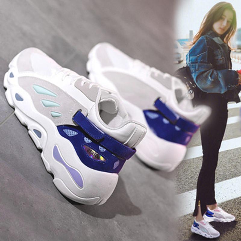 老爹同款椰子女鞋明星个性秋2019新款百搭内增高v老爹潮牌韩国跑鞋