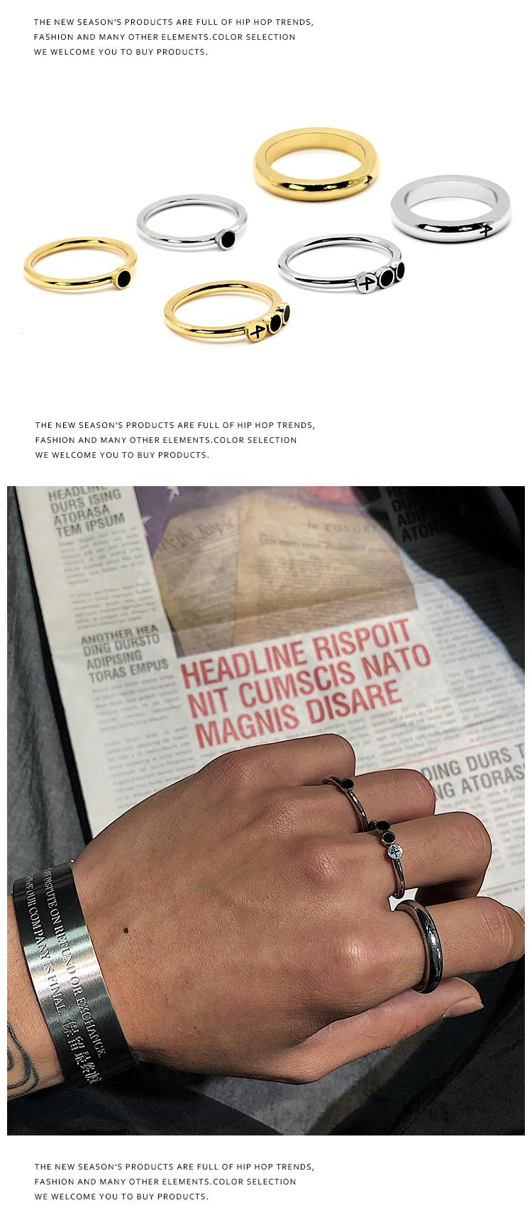 戒指 韓風CHIC簡約三件套戒指ins學生百搭關節戒潮人男女組合套裝指環 時尚搬運工