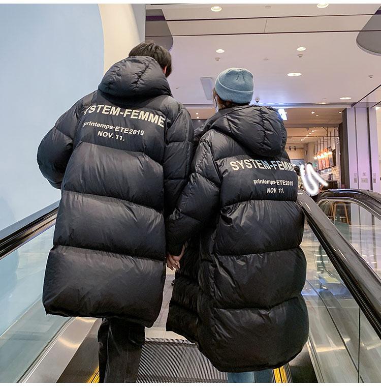 2019数据已测爆款中长款情侣男女保暖羽绒服A312-H04P255