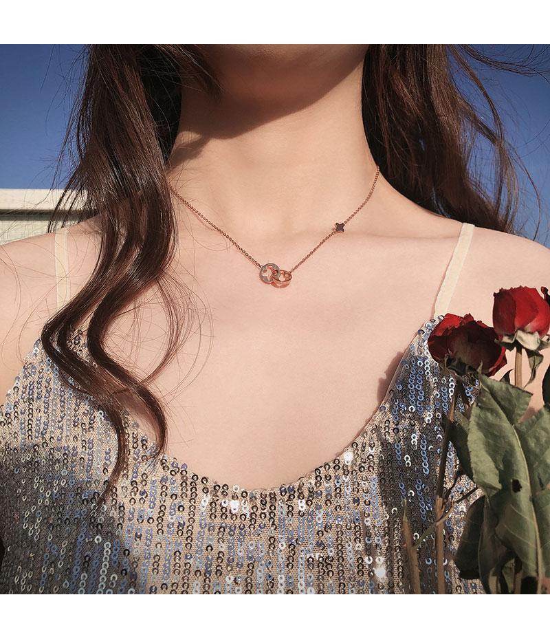 镂空四叶草项链女潮网红钛钢不掉色锁骨链小众轻奢个性详细照片