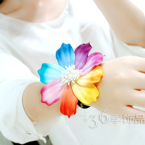 Cloth Bohemia Flowers Hair accessories(Colored flowers) NHXW0128-Colored flowers