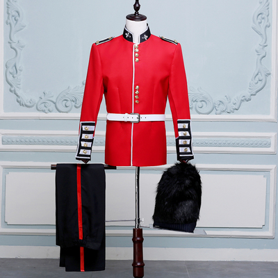 Men's Jazz Dance Costumes Royal Guard Guard of Honour Costume Prince William, Soldier of the Royal Forest Orchestra