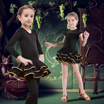 Latin dance dress for girls children latin dance costumes