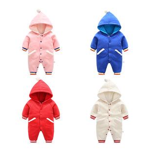 Новый ребенок одежда купальник зимнее ребенок новорожденных теплый осень и зима из подбитый закрытый свитер