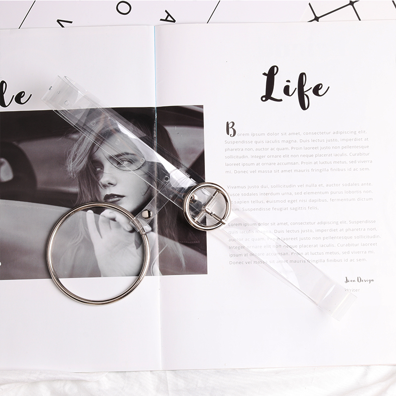2.3CM TRANSPARENT CIRCLE BUCKLE ~ RING PENDANT
