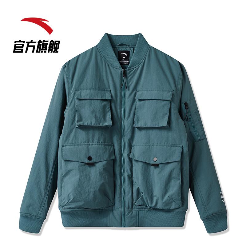 安踏韩国设计师联名工装口袋2020春季男子多棉服外套防风a工装外套