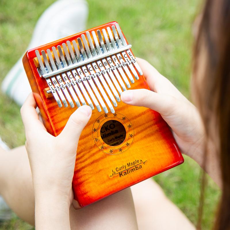 壁虎拇指琴羊阿宝卡林巴琴17音初学者女gecko手指琴卡琳巴琴乐器