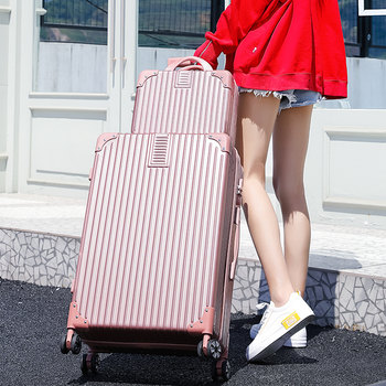 Son-in-law luggage 24 inch student trolley case men and women travel suitcase Korean password luggage net red small leather suitcase