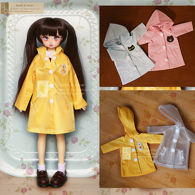 taobao agent DO spot bjd baby clothes big 6 points gem4 points 3 points dd giant baby ob50 coat azone 1/3 hanging hat raincoat