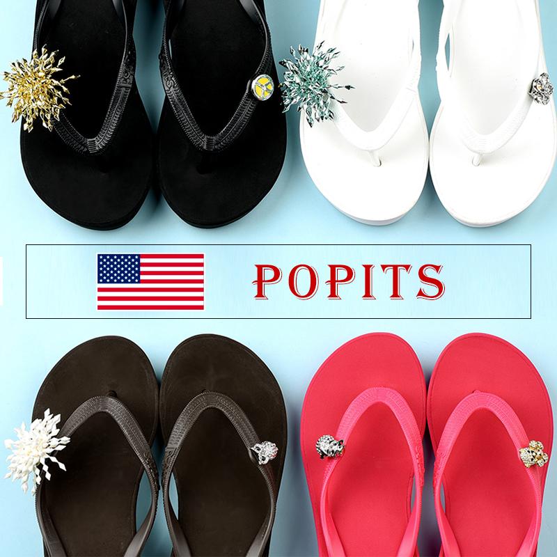 美国轻奢凉拖品牌 Popits 平底人字拖女外穿凉拖