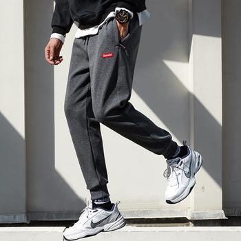 男士冬季加厚加绒保暖休闲运动裤