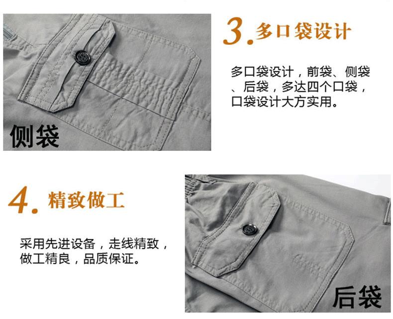 Mùa hè trung niên quần short nam cotton daddy lỏng kích thước lớn trung niên thường năm-quần quần mặc quần