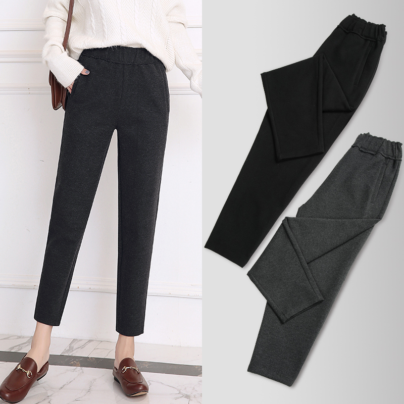 Woolen radish pants - gray - (upgrade version of the same level)
