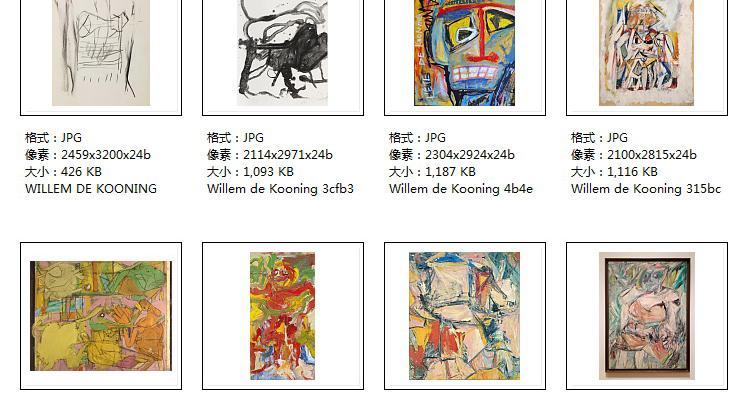 库宁油画高清素材电子版现代抽象几何教学临摹喷绘打印素材作品集插图(31)