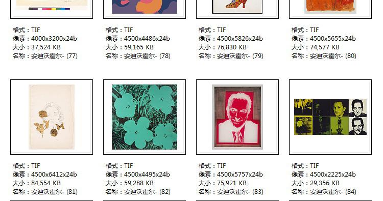 安迪沃霍尔高清电子版图片版画波普艺术教学临摹喷绘装饰画芯素材插图(35)