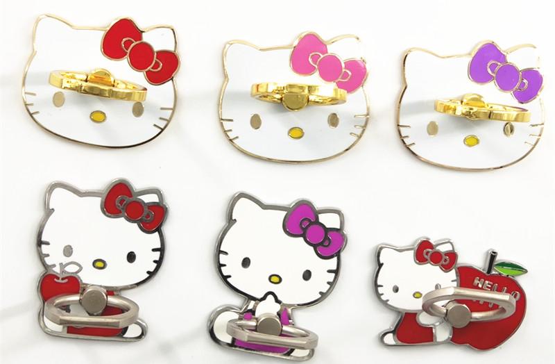 包邮 韩国iring指环扣可爱凯蒂猫手机支架手机座6s指环扣电镀kt猫