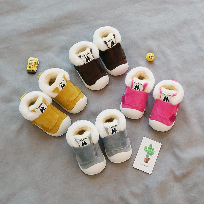 学步冬鞋女宝宝0-1-2岁冬季3加绒加厚软底秋冬款男童棉鞋子婴幼儿券后22.00元