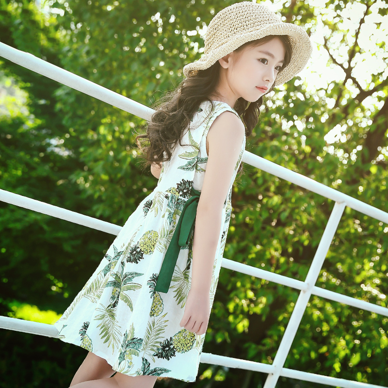 Girls summer dress 2019 new Korean version of the Yang Qi princess skirt children Summer Girl skirt