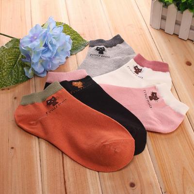 5双日系中筒女袜子保暖春秋季韩国学院风运动吸汗防臭可爱学生
