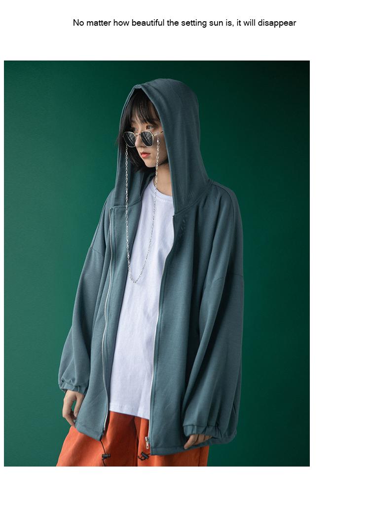 防晒衣女夏季薄款新款冰丝学生韩版宽鬆长袖盐系开衫百搭外套详细照片