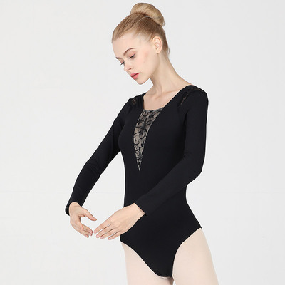 Ballroom latin dance bodysuit for women Adult dance training suit long sleeve ballet body suit teacher gymnastic suit lace air Yoga one piece suit