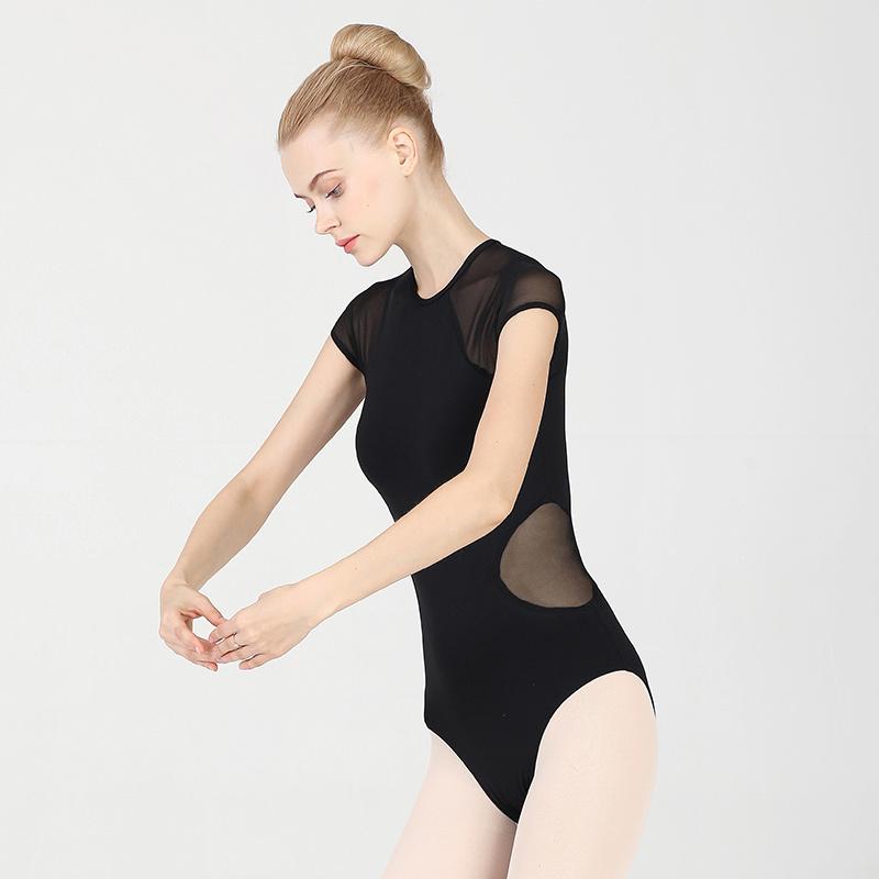 Ballroom latin dance bodysuit for women Air Yoga suit one piece back zipper ballet dance training suit female adult splicing mesh body suit