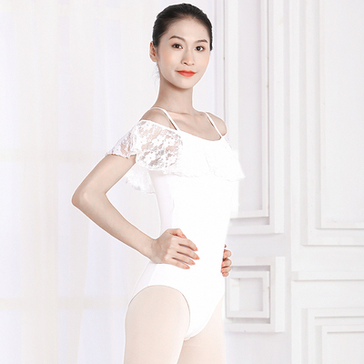 Ballroom latin dance bodysuit for women One shoulder ballet body suit womenconjoined dance training suit