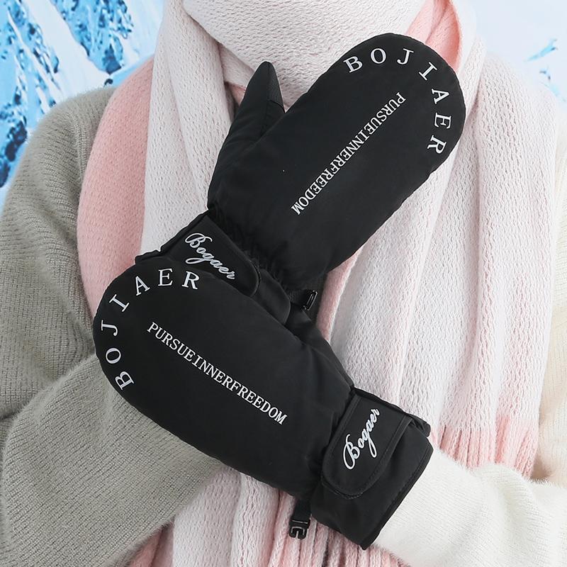 保暖羽绒棉手套女加绒加厚