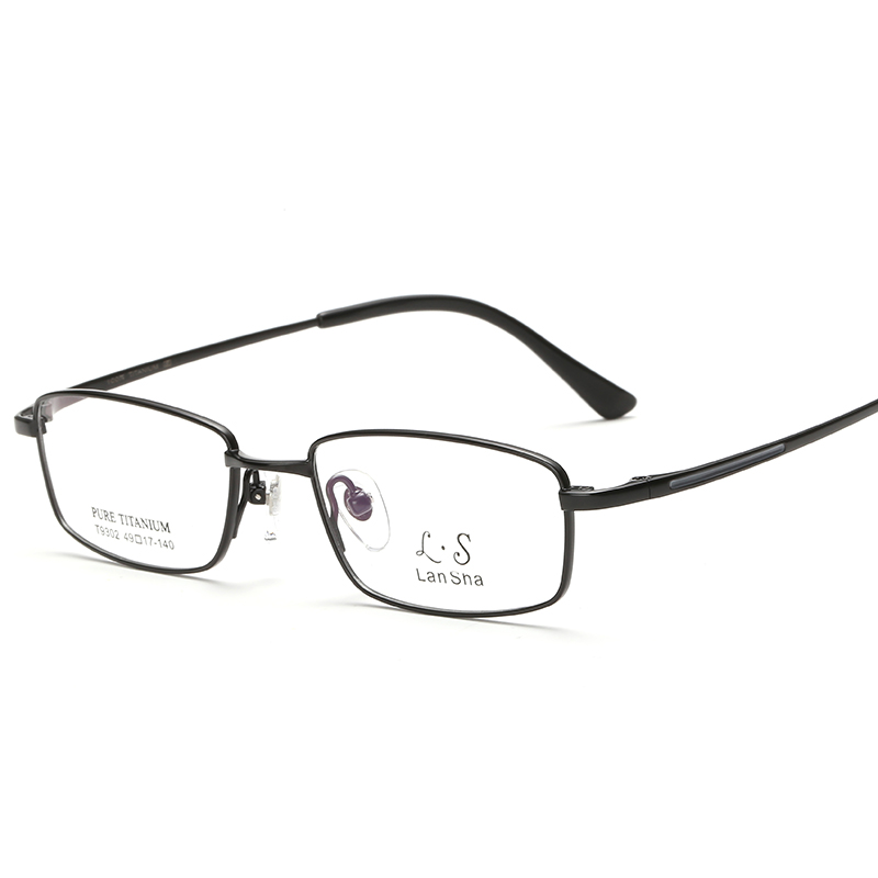 744af851b6a LAN Sha pure titanium frame full frame glasses frame with height ...