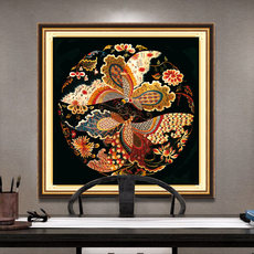 Cross stitch living room 2019 small new Chinese style phoenix small simple embroidery thread embroidered full embroidery own embroidery handmade