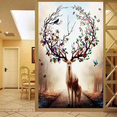 Line embroidery cross stitch 2019 new embroidered deer living room large landscape porch small pieces full embroidered embroidery handmade