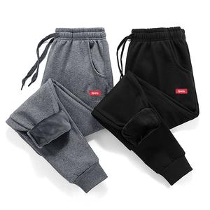 纽登客加绒运动裤男宽松加厚卫裤冬季休闲韩版潮流保暖长裤子