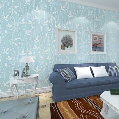 Self-adhesive wallpaper thickening 3D three-dimensional European non-woven fabric bedroom warm dormitory living room TV background home wallpaper
