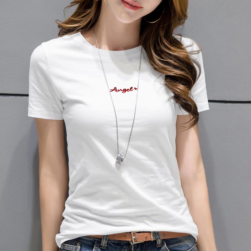 2020新款恤女短袖打底衫超火cec刺绣宽松t恤女纯棉印花半袖体