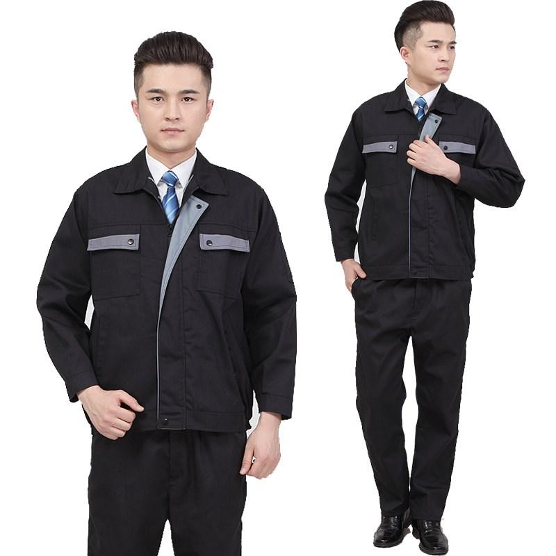 Spring and autumn work clothes welder maintenance electrician mens uniform long sleeve workshop suit labor protection work clothes work clothes