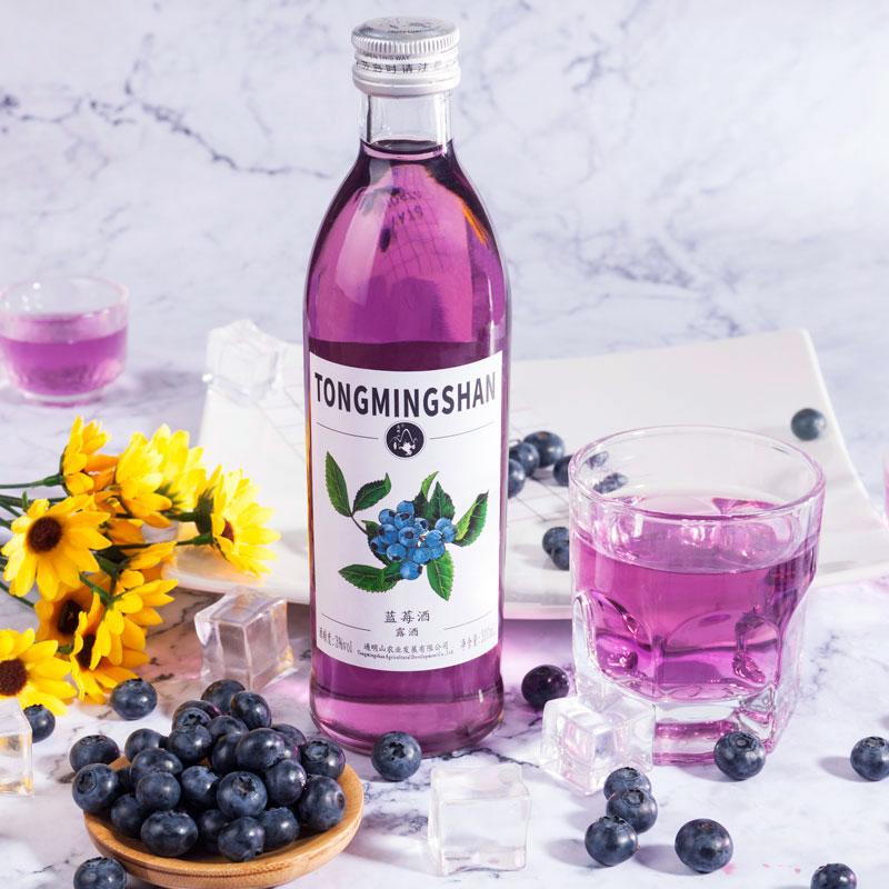 第2件0元蓝莓酒水果酒低度女士甜酒少女饮料鸡尾酒3度300ml颜值酒