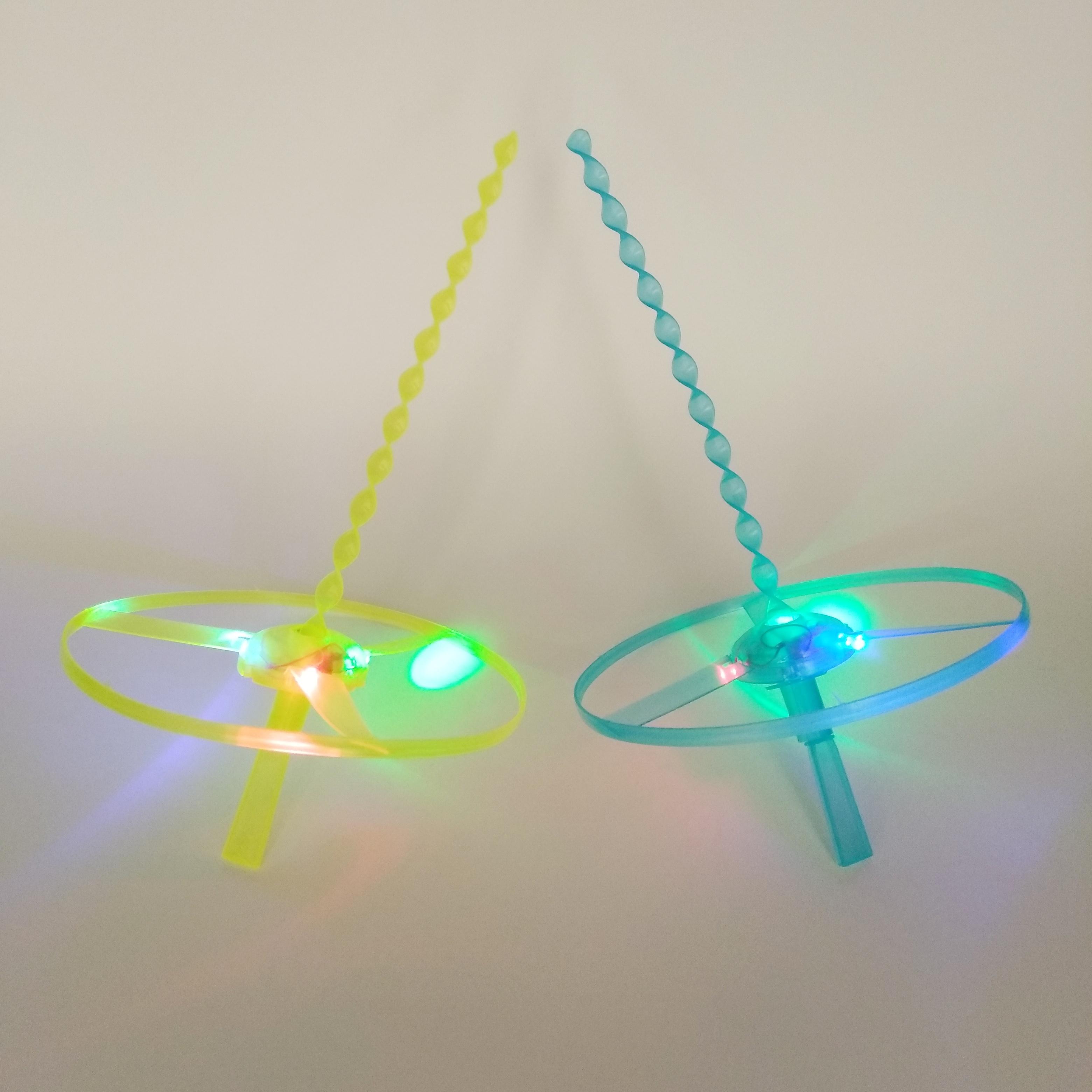 大号发光竹蜻蜓后怀旧玩具飞去来器户外闪光玩具地摊热卖货源详细照片