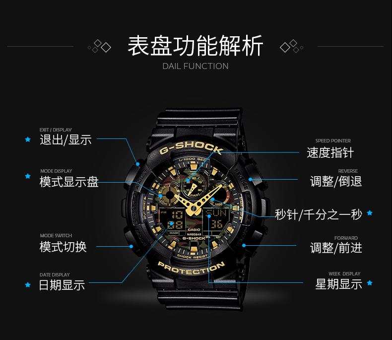 日本原产 卡西欧 G SHOCK系列 GA-110GB-1A 限量黑金悟空版运动手表 图10
